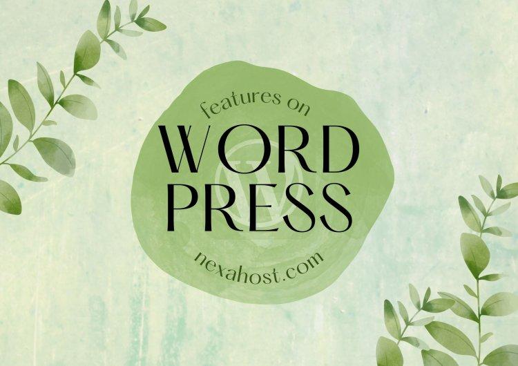 Features on wordpress
